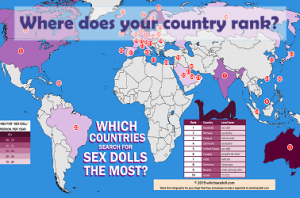 Where are sex dolls most popular?